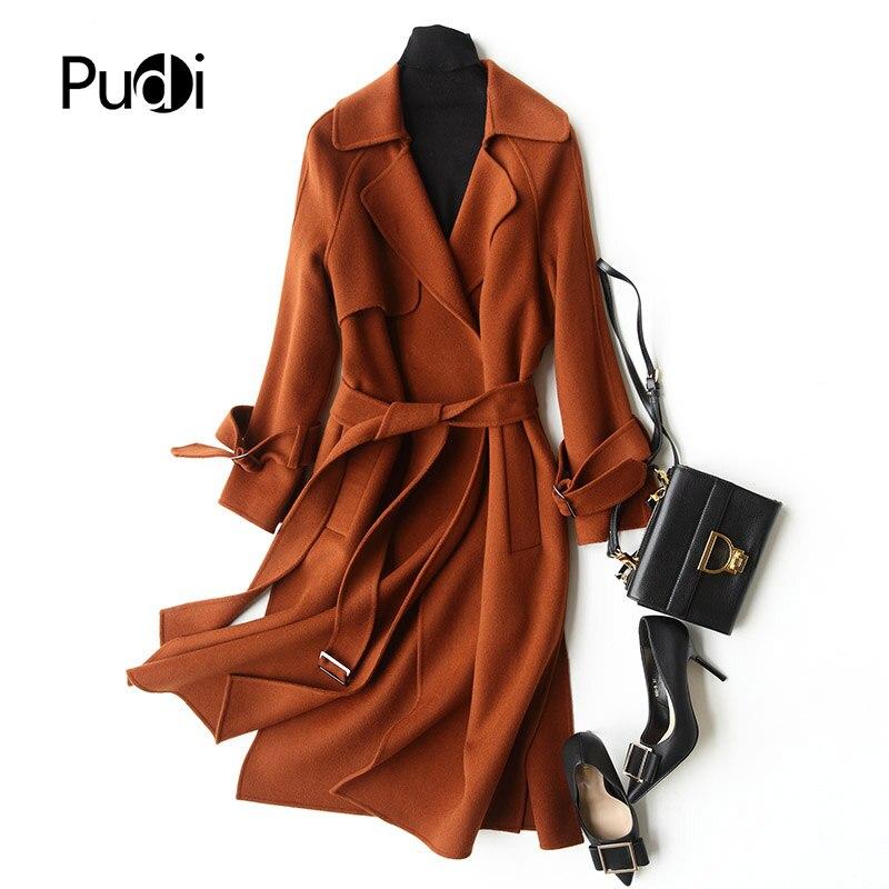PUDI A37011 Real wool coat jacket overcoat women s winter warm coat genuine inside winter coat