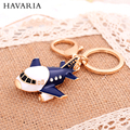 Brand HAVARIA Metal hollow Rhinestone Sealing glaze Women Keychain Key Chain Holder Ring Car Bag Pendant keyring Jewelry yqc-003
