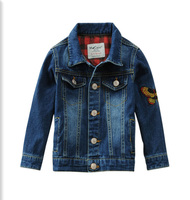 Kids Denim Coats blue baby Boys Fall Spring Clothes Autumn winter Jacket Cotton Tiger embroid Jackets Coat 3 4 5 6 7 8 9 Years