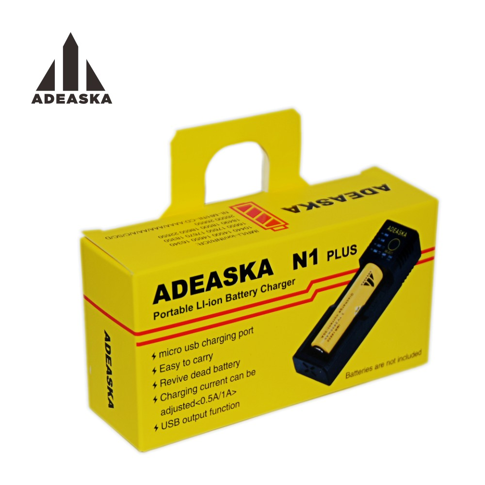 ADEASKA LED Display Intelligent USB Smart Charger for Ni-MH/Li-ion 18650 26650 AA