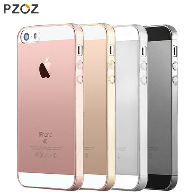 official photos 894a9 4a87a US $1.99  PZOZ Case For Apple iPhone 5 S C SE iPhone5 5S 5SE i5 Phone  Protective Case Luxury Silicone TPU Transparent Soft Cover Shell Bag-in  Fitted ...