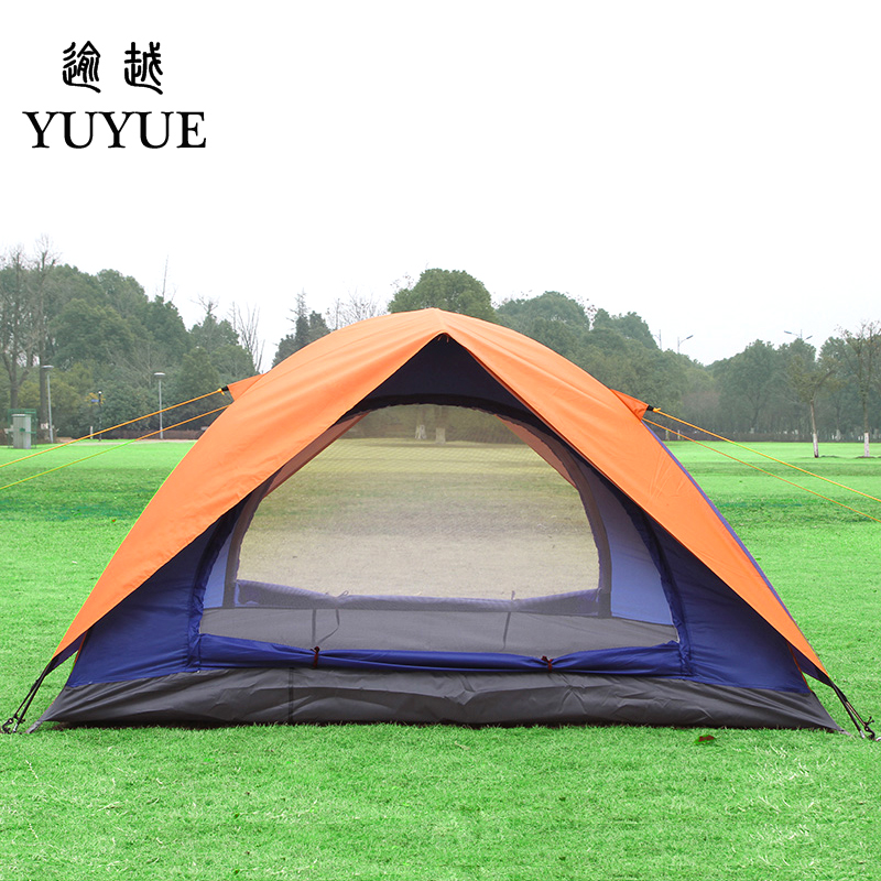 2 person UV protection camping tents for cleary day hiking tent for winter fishing double layer outdoor ultralight tent   2