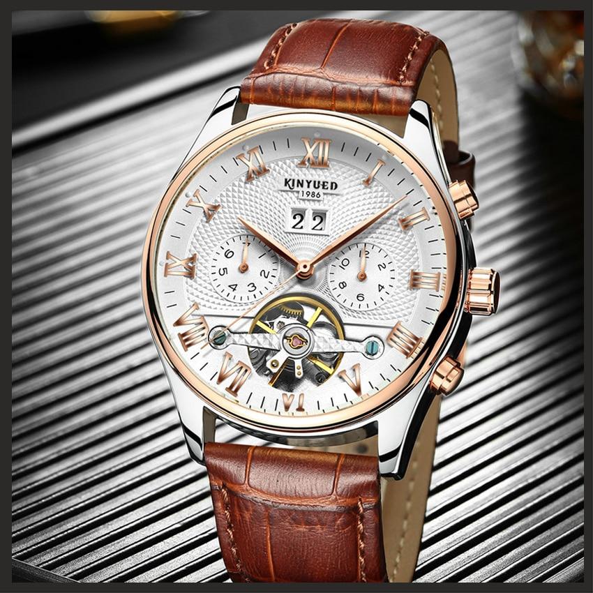 HTB1gVyBatfvK1RjSspfq6zzXFXaG KINYUED Skeleton Tourbillon Mechanical Watch Men Automatic Classic Rose Gold Leather Mechanical Wrist Watches Reloj Hombre 2019