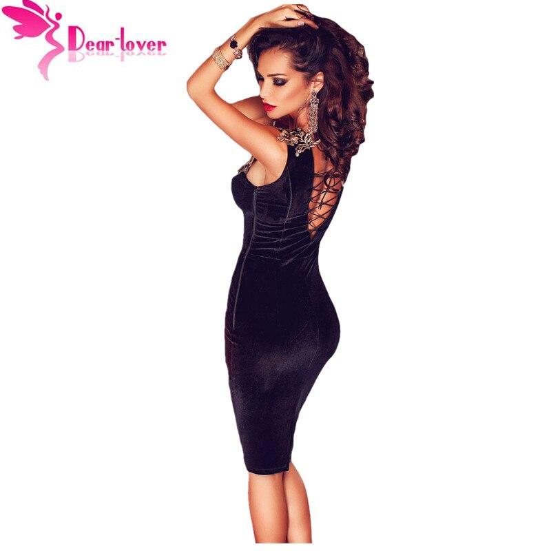 уважаемый-любовник бархат платье бальные платья черный рукавов босоножки назад цветочным подробно миди платье bodycon платья халаты 2016 lc61102