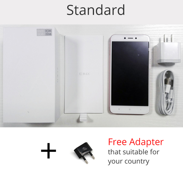 Original Xiaomi Redmi 4X 4 X Pro Mobile Phone 3GB RAM 32GB Snapdragon 435 Octa Core 5.0″ HD 4G LTE 13.0MP 4100mAh Fingerprint ID