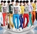 10 hombres de Color del verano pantalones ocasionales de hombre de alto grado del Color del caramelo envío de moda los pantalones de caballero