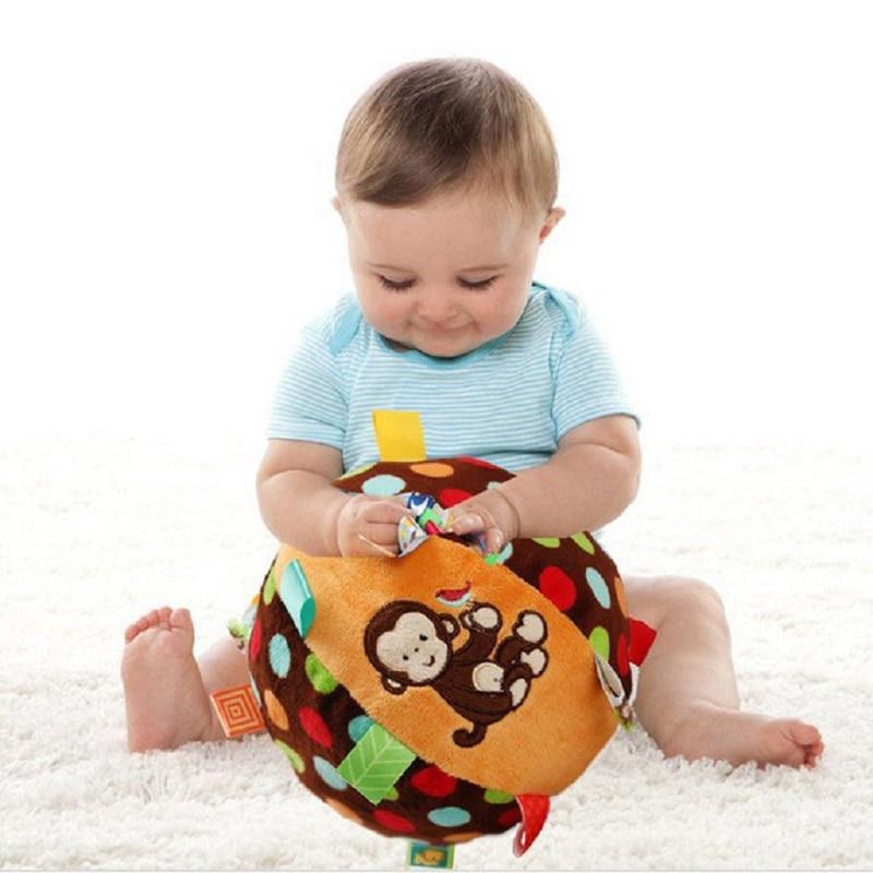 Mono Colorido Anillo de Bebé Juguete de Pelota de Bell Juguetes - Juguetes para niños - foto 2