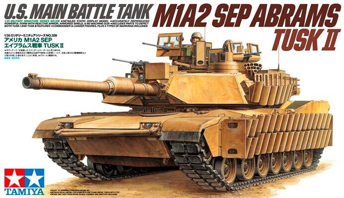 ФОТО TAMIYA MODEL 35326 U.S. Main Battle Tank M1A2 SEP Abrams Tusk II