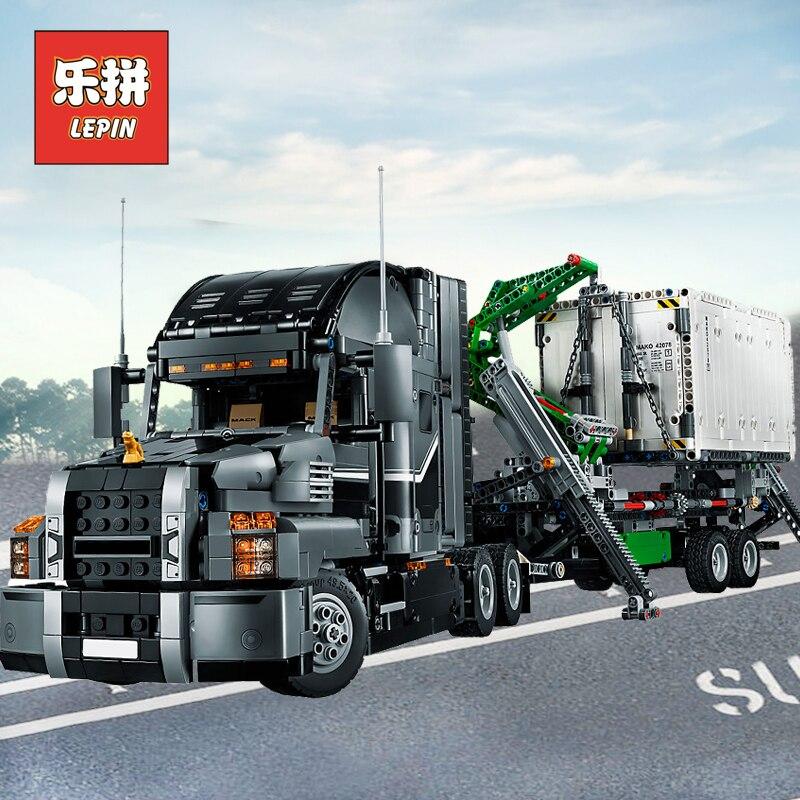 Лепин 20076 техника Мак большой грузовик набор 42078 строительные блоки кирпичи 20056 20005 RC грузовик Совместимость 42043 детские игрушки