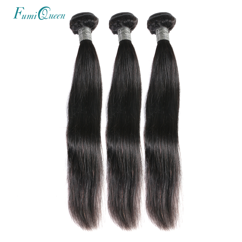 Али FumiQueen волосы перуанский прямые человеческие волосы 3 шт. лот 100% Волосы remy пе ...