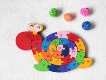 Новинка деревянная игрушка животное пазл на палец детская бесплатная