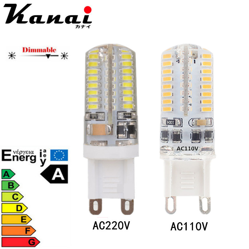 4/8/12PCS 64LED 3014SMD LED G9 LED lamp light 110V 220V Replace 100W halogen lamp 360 Beam Angle LED Bulb lamp Candle Luz 5x g4 ac dc 12v led bulb lamp smd 1505 3014 2835 2w 3w 4w replace halogen lamp light 360 beam angle luz lampada led