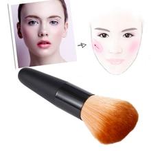 ELECOOL 1pc profesjonalne miękkie włosy syntetyczne kobiety twarz kosmetyczne makijaż sypki proszek Blush Shadow Contour narzędzie pędzel do makijażu