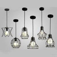 Loft retro endüstriyel tarzı demir kolye işıkları yaratıcı kişilik misafir restoran İnternet kafeler kolye lambaları GY17