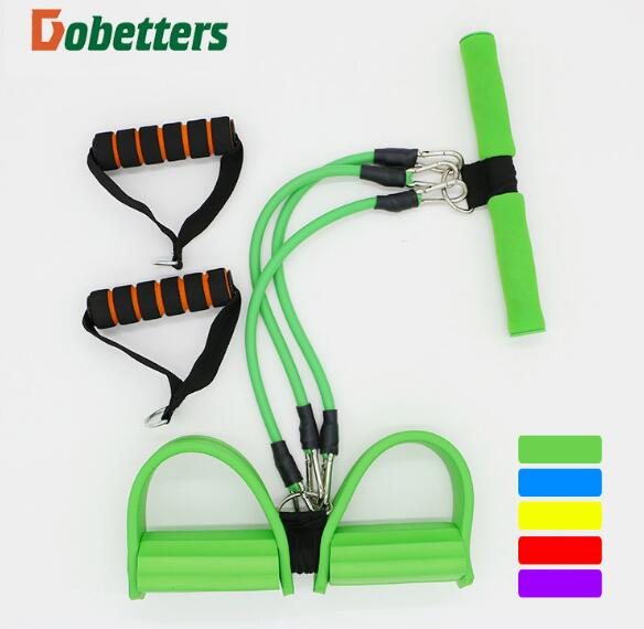 Dual-use Pedal Exerciser Foot Rally rope chest developer Resistance Band chest expander Sit-ups device