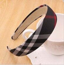 Plaid Tartan Check Grid Ribbon Headband Hair Hoop Check Hair Accessories Gossip Girl 12PCS/LOT