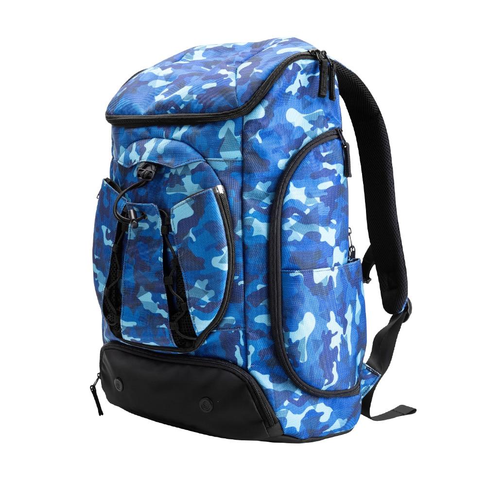 Купить с кэшбэком Kuangmi Multi-functional Sports bag Basketball backpack black blue team training package 42L 30L