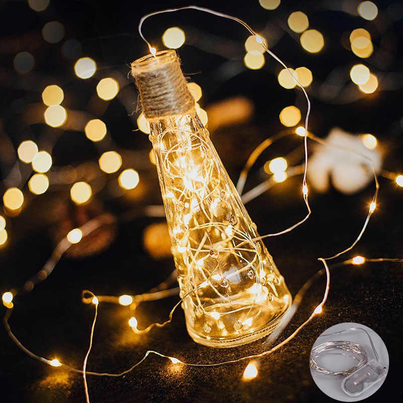 1 M 2 M 3 M 5 M חוט נחושת LED מחרוזת אורות חג עמיד למים פיות זר תאורת מנורת עבור חג המולד מסיבת חתונת קישוט