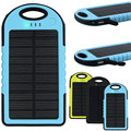 Portable 5000mAh Solar Charger Waterproof Portable Dual USB Mobile 2 USB Output Mouth Power Bank For Cell phones iPad iPod