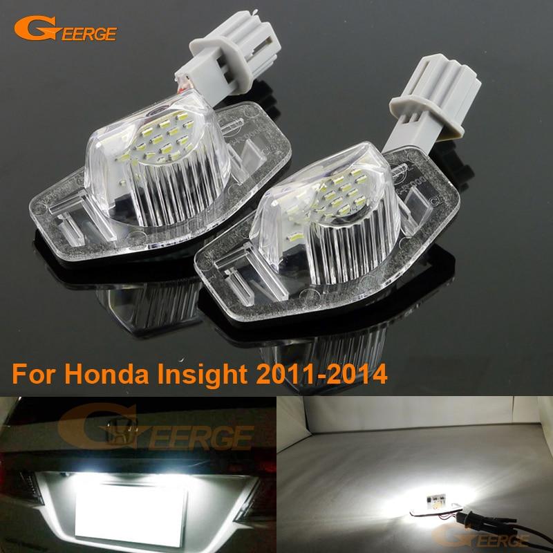 Para Honda Insight 2011-2014 excelente ultra brillante 3528 LED lámpara de matrícula lámpara error no OBC