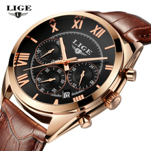 LIGE Relojes Hombre Del Reloj de Los Hombres de Primeras Marcas de Lujo de Los Hombres de Negocios de Cuarzo-reloj Del Deporte Ocasional de Los Hombres Reloj De Pulsera Relogio Masculino