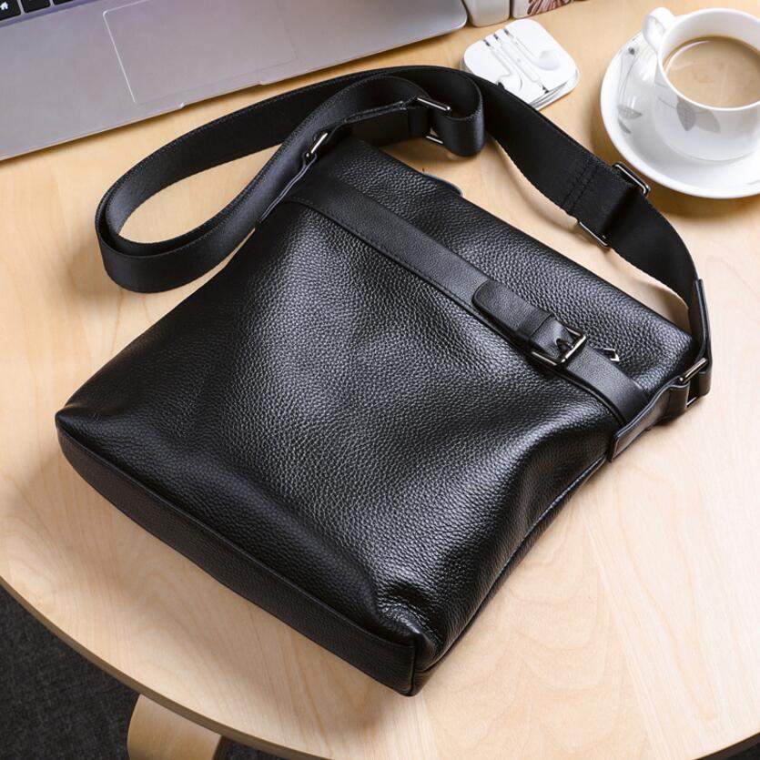 KUJING skórzane torba męska jakości luksusowe skórzane torba męska na ramię moda męska biznes na co dzień skórzana torba Hot mężczyźni torba na ramię w Torby z długim paskiem od Bagaże i torby na  Grupa 1