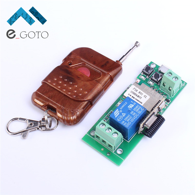 5v Inching Self Lock Wifi Relay Module 433mhz Wireless