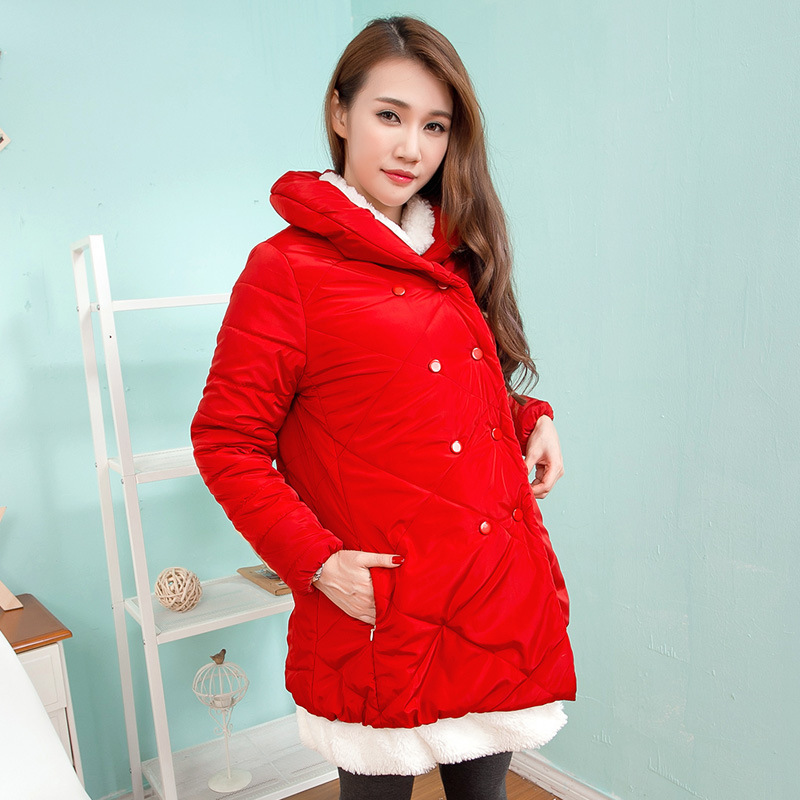 2015 winter outerwear womens fashion maternity cotton-padded jacket for pregnancy coat new design