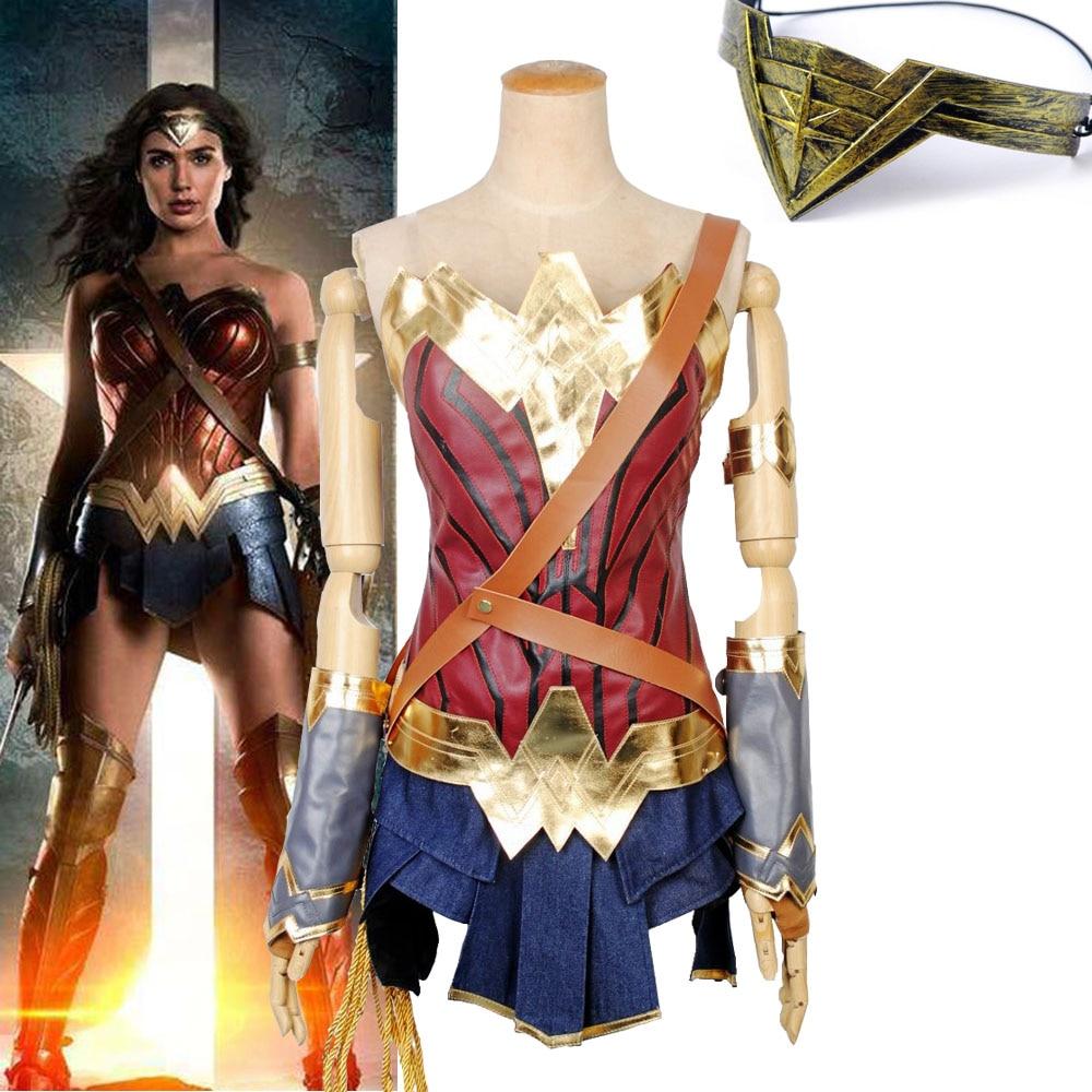 Wonder Woman Diana Prince Cosplay Costume Adult Outfits NEW Batman v Superman