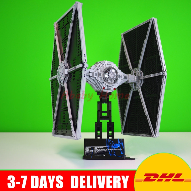 DHL LEPIN 05036 UCS Series 1685Pcs UCS TIE Fighter Building Blocks Bricks Set Assembled Toys Clone 75095 Model Gift dhl fast shipping 1990pcs lepin 05047 ucs ewok village building blocks juguete para construir bricks toys compatible 10236