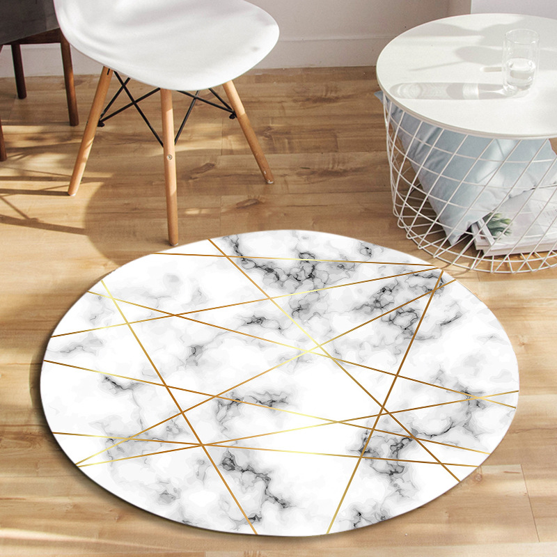 Us 24 22 43 Off Nordic Marble Texture Round Carpet Living Room Home Entrance Hallway Doormat Computer Chair Rug Decorative Bedroom Rugs In