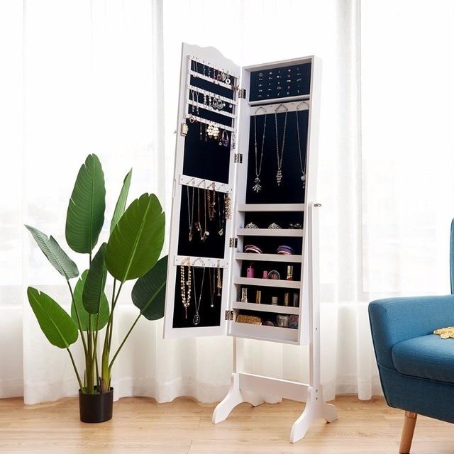 Mirrored Lockable Jewelry Cabinet 3