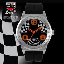 RELOJ de los hombres de Carreras GT Speed Sports Ejército Militray Relojes Correa de Silicona Reloj de Cuarzo Montres Moda de Lujo de Regalo 2016