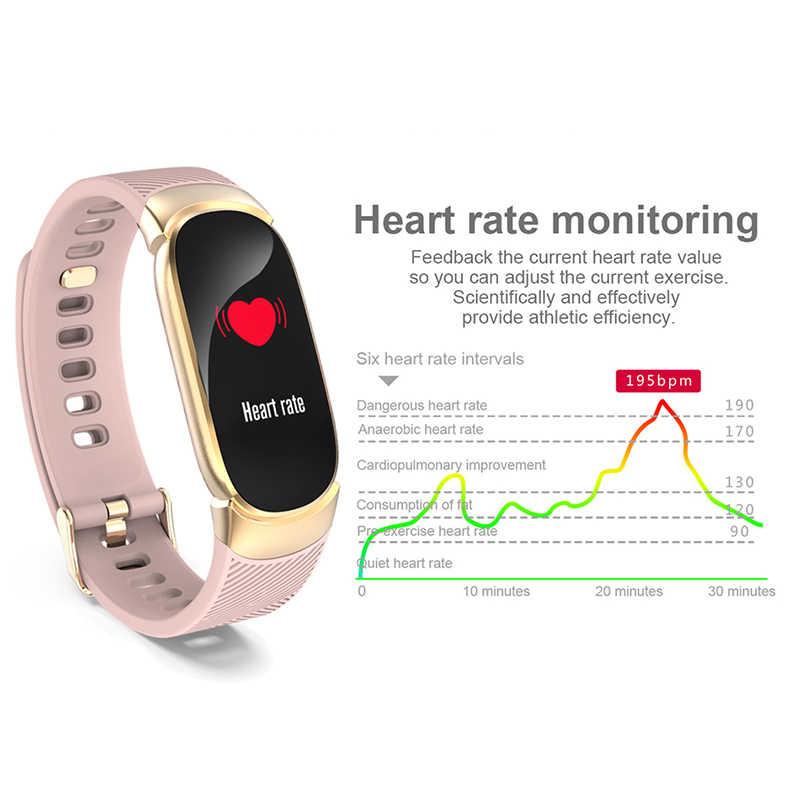 2019 Novo Relógio Inteligente Pulseira Das Senhoras Das Mulheres Dos Homens Do Esporte À Prova D' Água smartwatch Pedômetro monitor de freqüência cardíaca de fitness banda de rastreamento