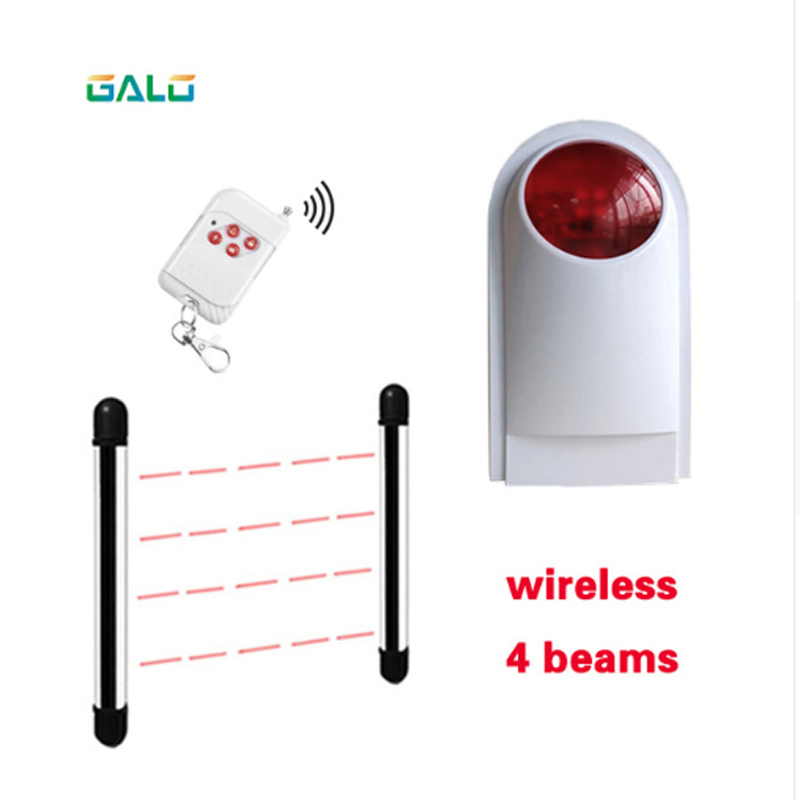 Wireless 4Beams Sensor Active Infrared Intrusion Detector IR 20m Outdoor Perimeter Wall Barrier Fence with lamp alarmWireless 4Beams Sensor Active Infrared Intrusion Detector IR 20m Outdoor Perimeter Wall Barrier Fence with lamp alarm