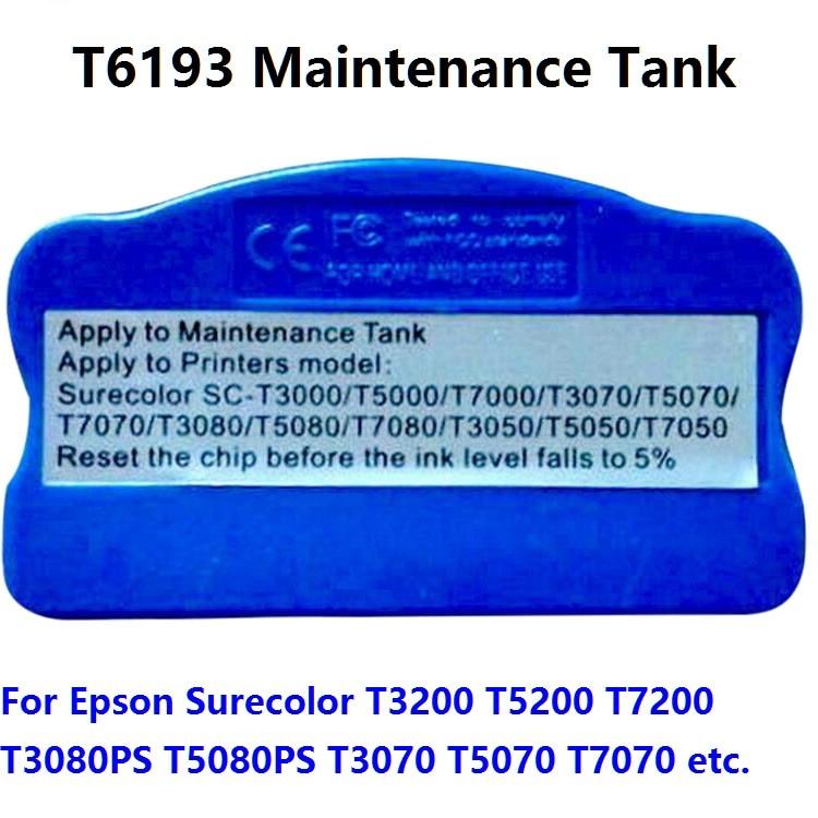 XIMO T6193 Chip Resetter for SC T7200 F9200 T7000 T3200 T5200 T3270 T5270 T7270 F6070 F7070 F6000 F7000 T3070 Maintenance tank reset cartridge chip resetter for epson surecolor t3200 t5200 t7200 t3000 t5000 t7000 t3050 t5050 t7050 t3270 t5270 resetter