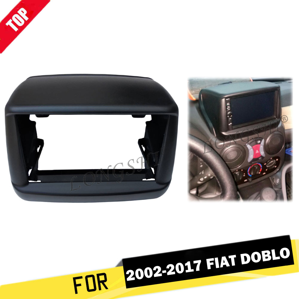 Car Radio Fascia For 2002 2017 Fiat Doblo Console Dash Kit DVD Stereo Panel Trim Facia