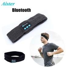 Sem fio Bluetooth Fone De Ouvido Música Sono Cabeça Chapéu Morno Macio Esportes Running Handfree fone de Ouvido Fone de Ouvido Com Microfone Para Smartphones