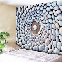Mandala Wall Hanging Whirlwind Cobblestone Wall Tapestry 3D Stone Art Carpet Blanket Yoga Mat Decorative Tapestry for Home Decor ocean stone island print tapestry wall hanging art