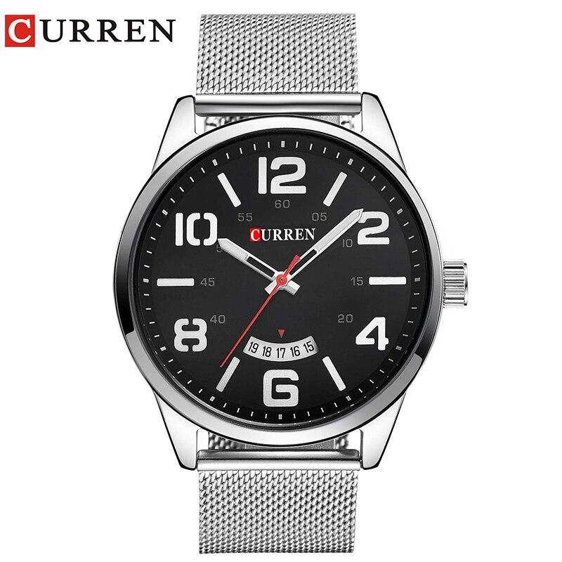 Curren Uhren Männer Top-marke Luxus Cow Quarz-Uhren Sport Herrenuhren Wasserdicht Relogio Heren Hodinky 8236