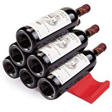 Wine Bottle Organizer Holder Silicone Stacker Cans Fridge Mats Beverages Racks refrigerator