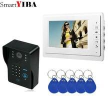 SmartYIBA видеодомофон 7 дюймов монитор проводной видео телефон двери дверной звонок спикэфон домофон Пароль RFID камера система