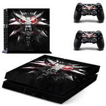 The Witcher 3 Decal Skin Ps4 console Cover For Playstaion 4 Console PS4 Skin Stickers+2Pcs Controller huid Protective Skins