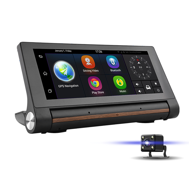 imágenes para 3G Navegación GPS Del Coche DVR 7 Pulgadas Android Dash Cam cámara Bluetooth Transmisor FM WiFi Full HD 1080 P Grabador de Vídeo Registrator