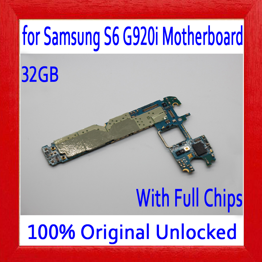 Original unlocked for Samsung Galaxy S6 G920i Motherboard with OS System,32GB for Galaxy S6 G920i Mainboard,Free ShippingOriginal unlocked for Samsung Galaxy S6 G920i Motherboard with OS System,32GB for Galaxy S6 G920i Mainboard,Free Shipping