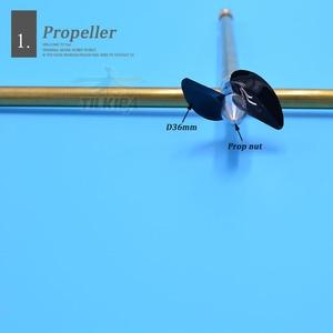 Image 4 - Boot 4mm Edelstahl Schiff Welle Antriebswelle + Zwei Klingen propeller + Kupfer Welle Hülse/set