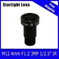 3mp f1.2 abertura fixa 1/2. 5 polegada sony starvis imx290/imx291 lente de 4mm para 1080 p ultra starlight câmera de cftv ip frete grátis