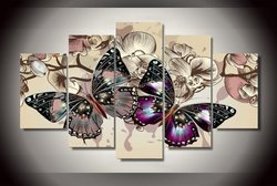 5 pieces set butterflies wall art pictures for home decoration abstract painting print on canvas fresh.jpg 250x250