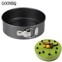 GOONBQ 1 шт. 8 дюймов круглый кекса из углеродистой стали съемный антипригарной формы для торта мусс помадка выпечки инструменты