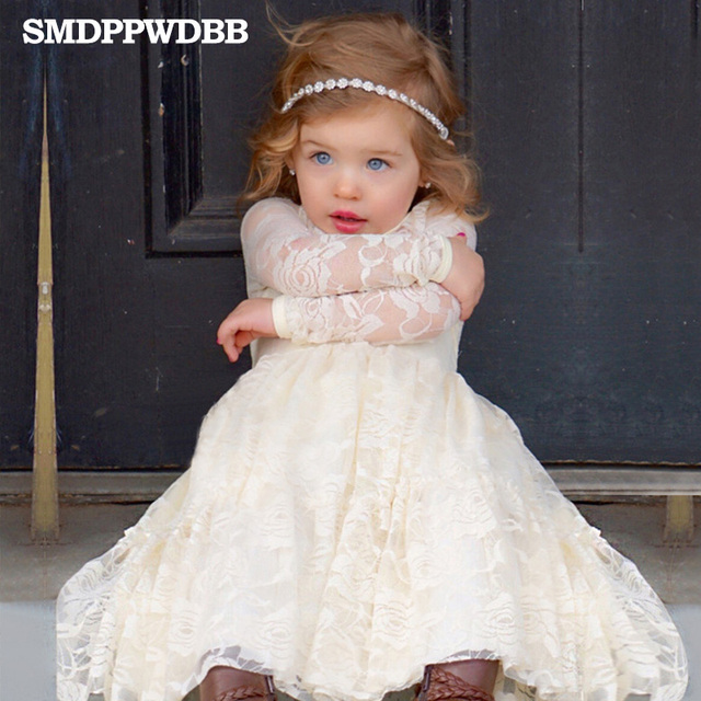 4b3fa0031572 SMDPPWDBB Summer New Children Clothes Girls Beautiful Lace Dress ...